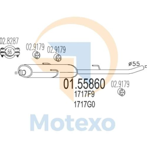 small resolution of details about mts 01 55860 exhaust fiat scudo 2 0 jtd 110bhp 09 99 05 00