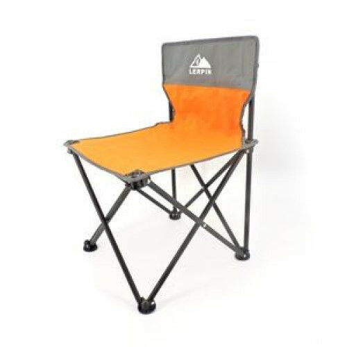 child camping chair hand wood lerpin sized orange and grey fold able camp ebay details about