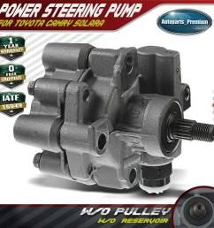 details about power steering pump w o reservoir for 92 01 toyota camry solara l4 2 2l 21 5876 [ 1000 x 1000 Pixel ]