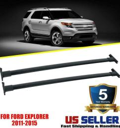 details about for 2011 2012 2013 2014 2015 ford explorer top roof rack cross rail bar oe style [ 1000 x 1000 Pixel ]