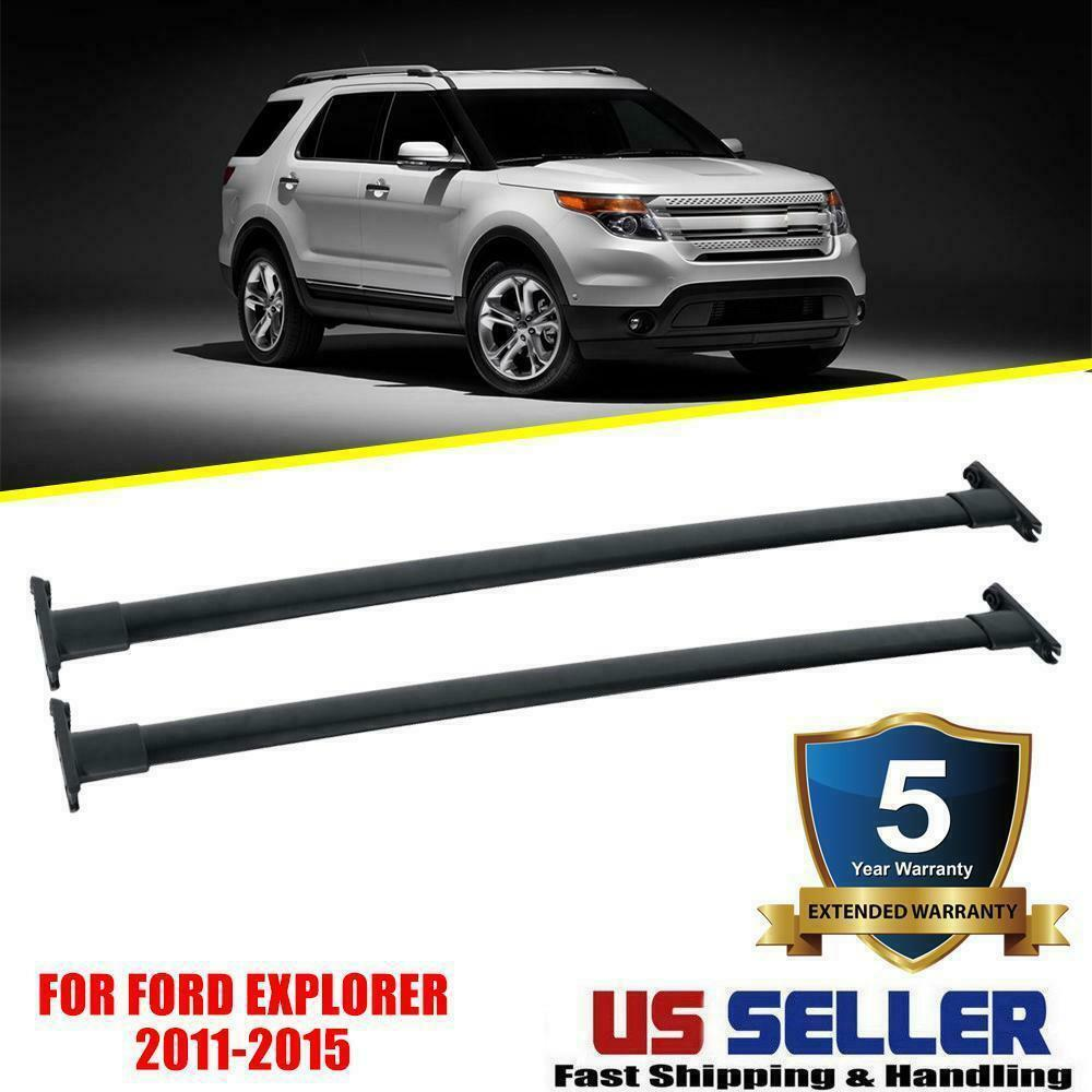 hight resolution of details about for 2011 2012 2013 2014 2015 ford explorer top roof rack cross rail bar oe style