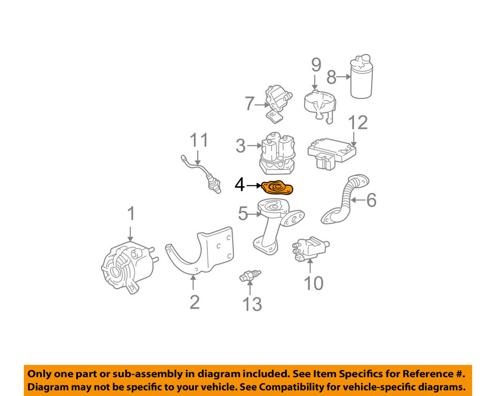 hight resolution of details about gm oem egr valve gasket 10100094