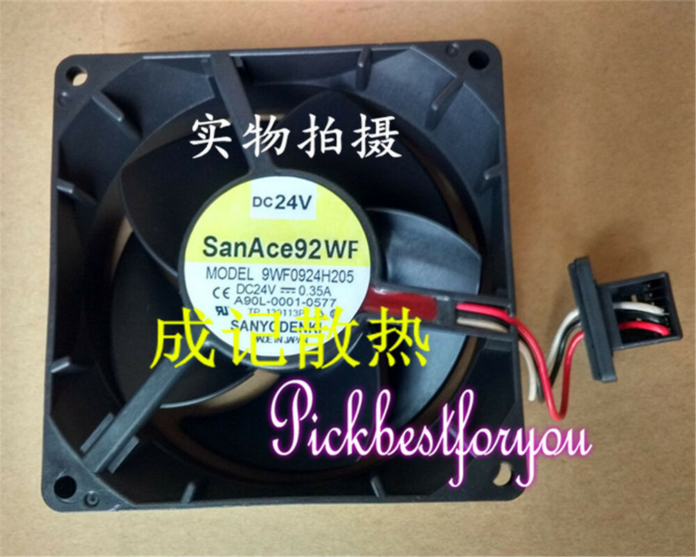 hight resolution of details about sanyo 9wf0924h205 cooling fan for fanuc dc24v 0 35a 92 92 25mm 3pin mq17 ql