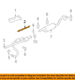 gm oem exhaust manifold manifold gasket 12617944 ebay 1998 chevrolet camaro z28 exhaust diagram category exhaust diagram [ 1000 x 798 Pixel ]