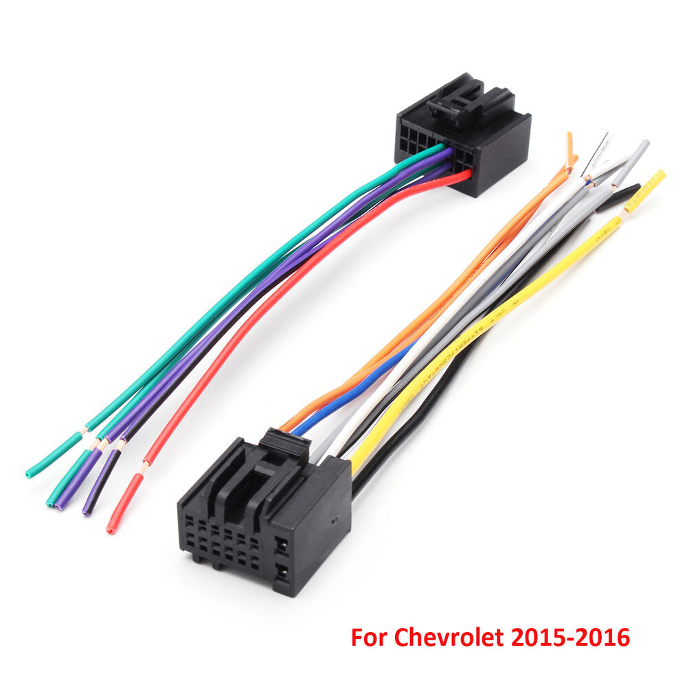 medium resolution of details about 2pcs car radio stereo speaker wiring harness plug cable for chevrolet