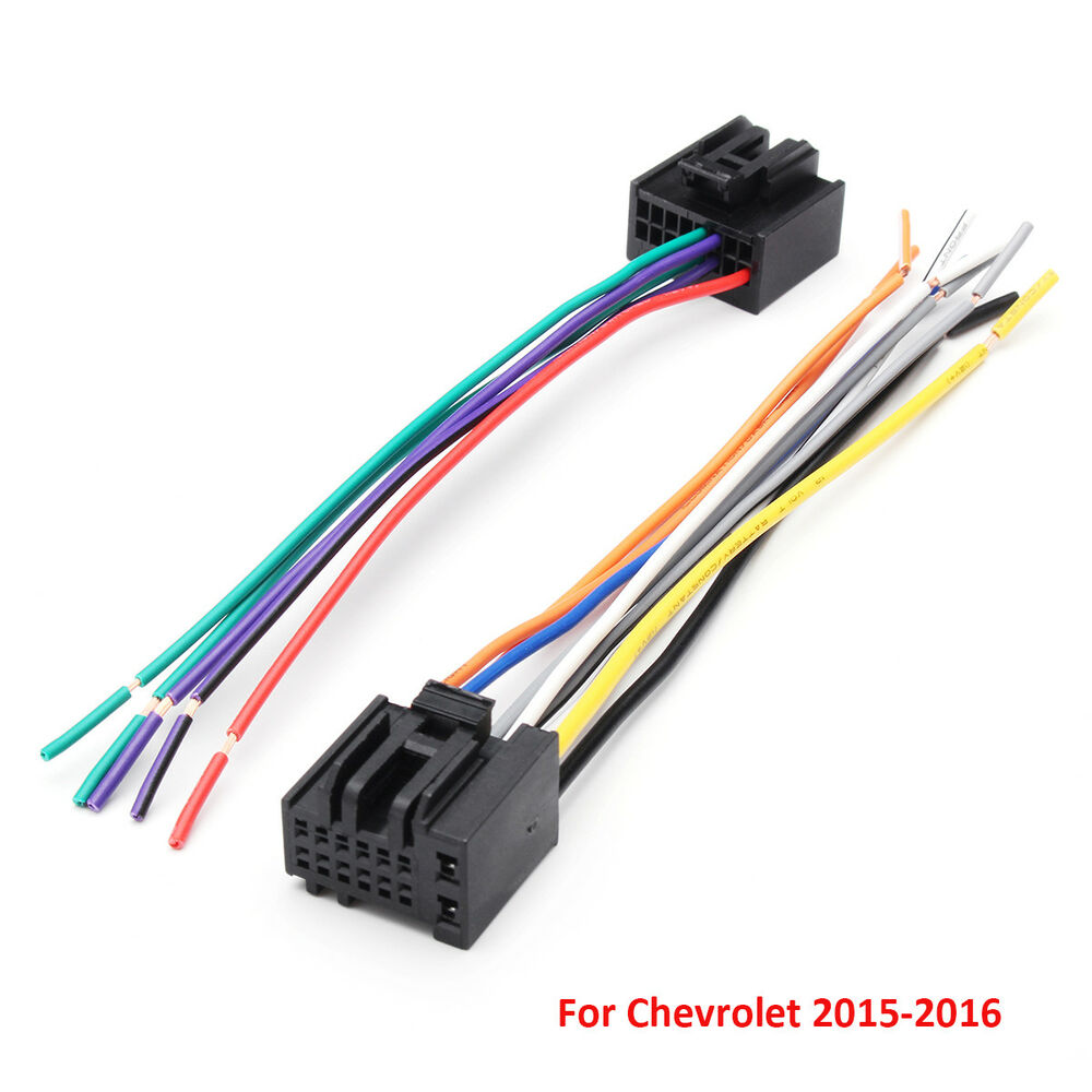 hight resolution of details about 2pcs car radio stereo speaker wiring harness plug cable for chevrolet