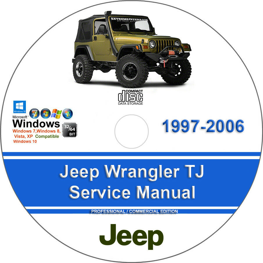 hight resolution of details about jeep wrangler tj 1997 2006 factory workshop service manual parts list