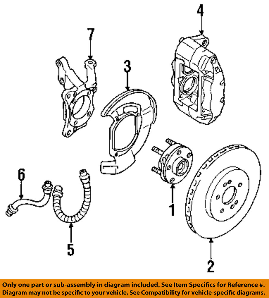 hight resolution of details about mitsubishi oem 94 99 3000gt front brake disc rotor mr235802