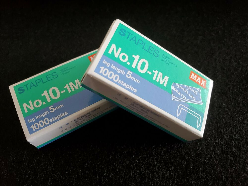 2x New Max Staples No101M 5mm Mini 1000 Staples  eBay
