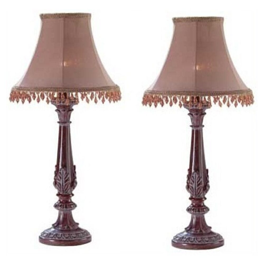 2 Bedazzled Lamps Casual Lovely Small Lamp