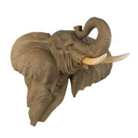 ELEPHANT Head Wall Decor LARGE and Exotic Statue FIGURINE ...
