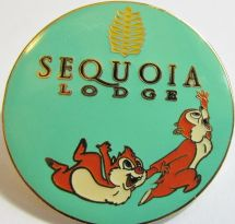 Disney Disneyland Paris Hotel Sequoia Lodge Logo Chip And