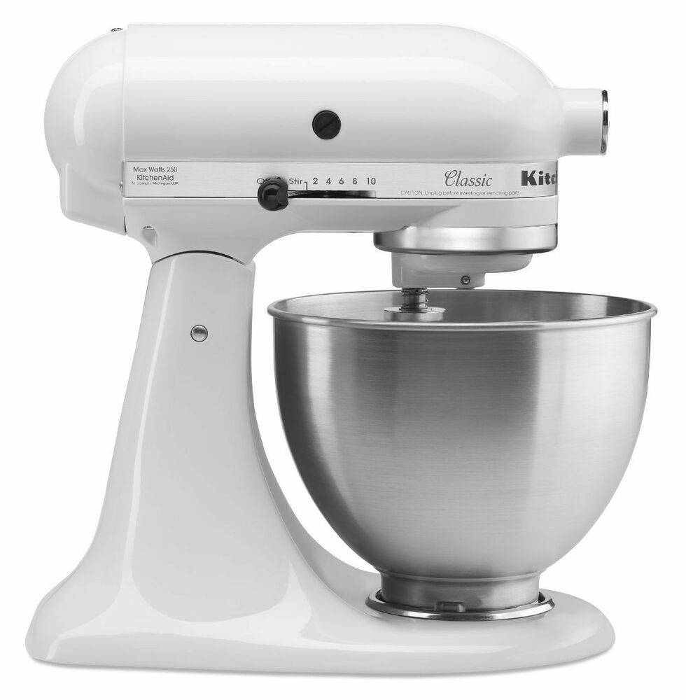 New Kitchenaid Stand Mixer 4 12Quart k45sswh All Metal White Tilt Classic New 726670964243  eBay
