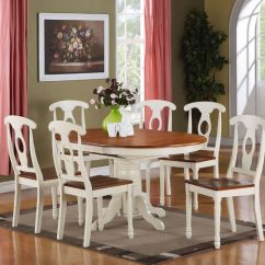 Oval Kitchen Table Sets Lowes Aid 7 Pc Kenley Dinette Dining Room Set With 6 ...