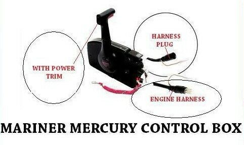MARINER MERCURY OUTBOARD ENGINE TRIM SIDE MOUNT CONTROL