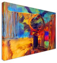 Large Abstract Painting Halo Canvas Wall Art Pictures | eBay
