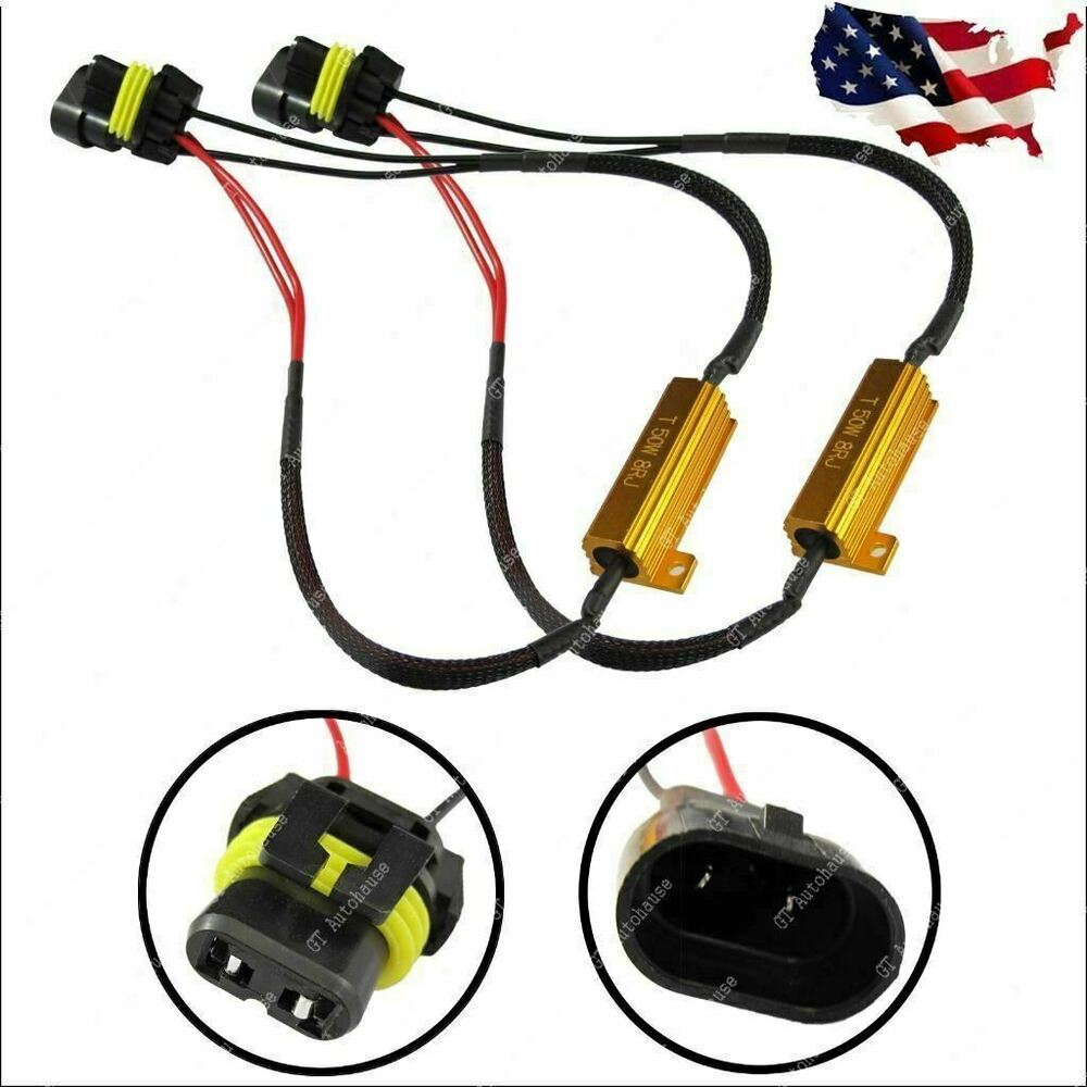 hight resolution of details about 2pcs 9006 hb4 9012 no error fog lamp load resistors bypass wiring decoder