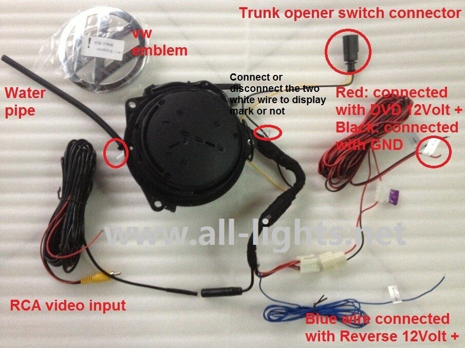 Mouse Wiring Diagram Volkswagen Rotating Rearview Camera With Vw Logo Back Up