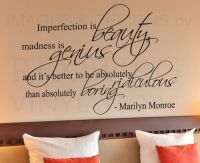 Wall Decal Sticker Quote Vinyl Art Imperfection is Beauty ...