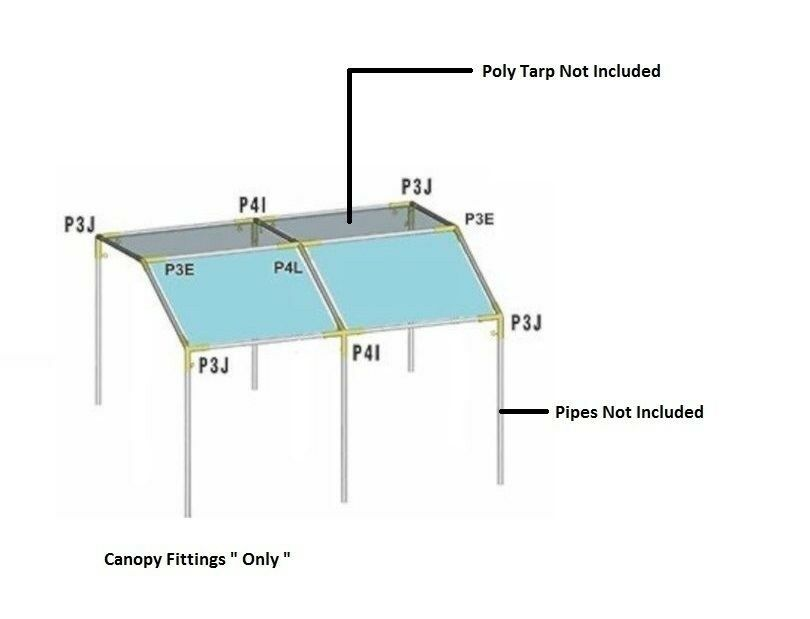 10x20 Ft 1 Low Peak Canopy Fittings Only Auto Car Shade Boat Tent Fittings EBay