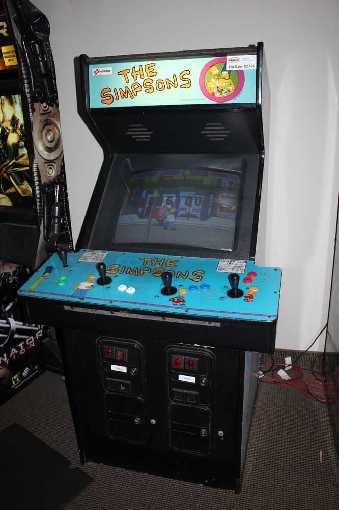 THE SIMPSONS 4 Player Arcade Game Machine  Works Great