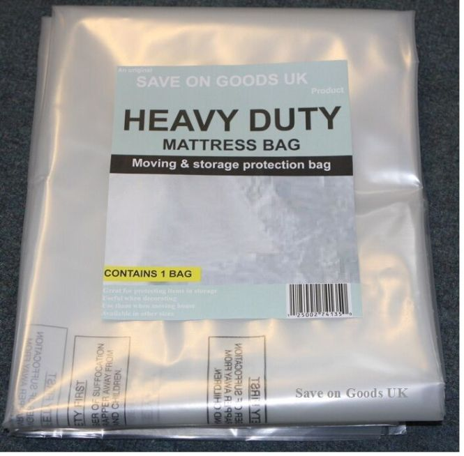 Heavy Duty Mattress Storage Polythene Plastic Bag Thick Strong Matress Cover Ebay