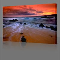 """30x20"""" Red Sea Water Sunset Large Framed Canvas Wall Art ..."""