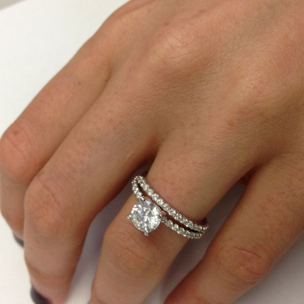 121 CARAT VS WEDDING DIAMOND ENGAGEMENT RING ROUND 18K