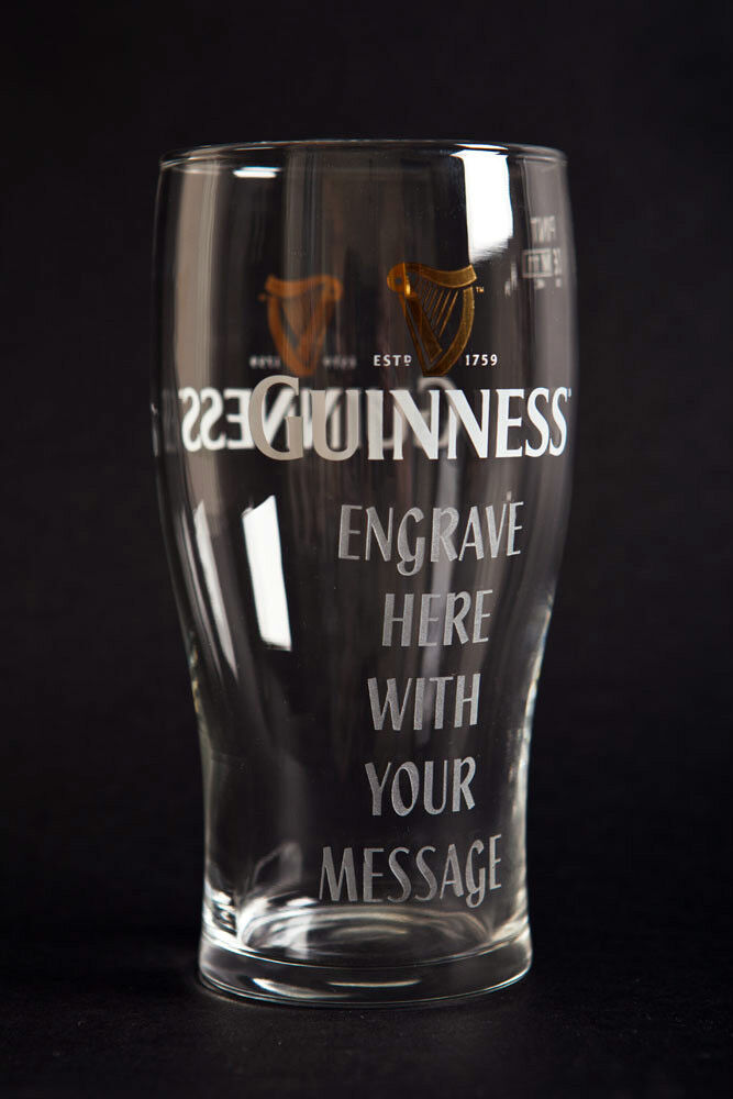 Guinness Pint Glass Personalised Engraved Gift & Gift