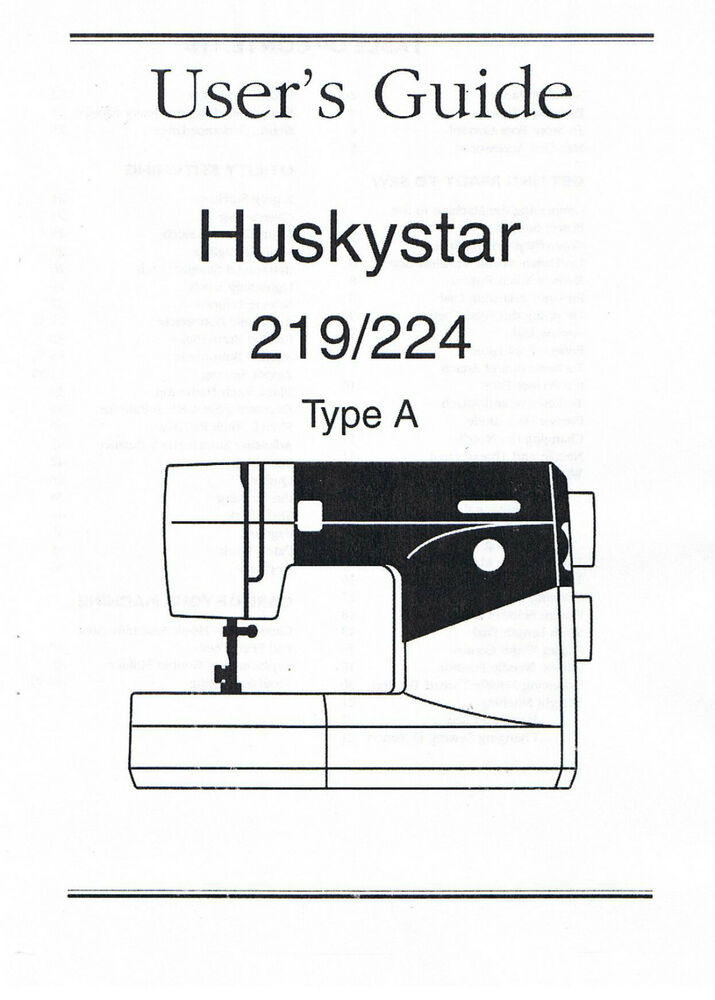 Husqvarna Viking Huskystar 219 224 Owners Users Operators
