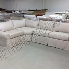 Linen Slipcover Sofas Next Home Leather Corner Sofa Pottery Barn Pb Basic Sectional Flax ...