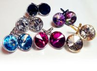 Regular Round Bella Women Crystal Earrings Made with ...