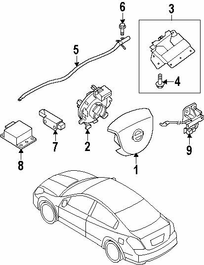 25567-EB60A NEW ClockSpring Spiral Cable for Nissan