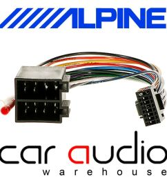alpine 16 pin iso car stereo radio wiring harness lead cable ebay [ 1000 x 1000 Pixel ]