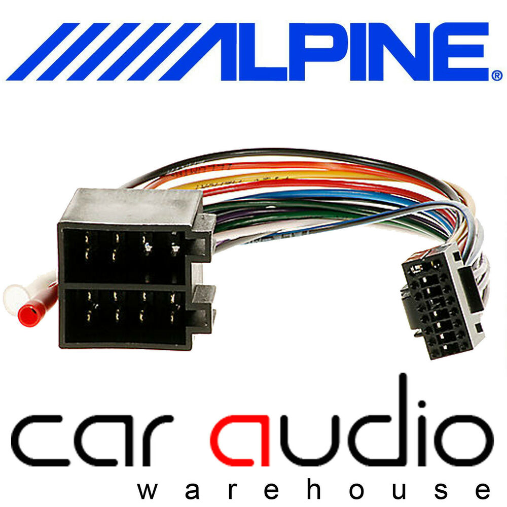 hight resolution of alpine 16 pin iso car stereo radio wiring harness lead cable ebay