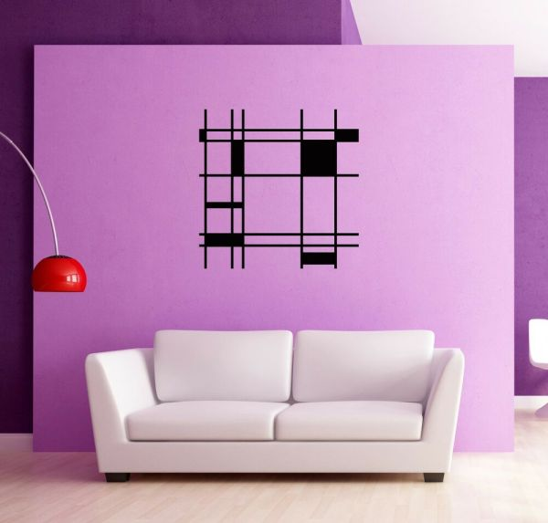 Wall Stickers Vinyl Decal Modern Abstract Cool Decor