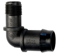 """Elbow 25mm x 1/2"""" BSP Male Low Density Poly Pipe Fitting ..."""