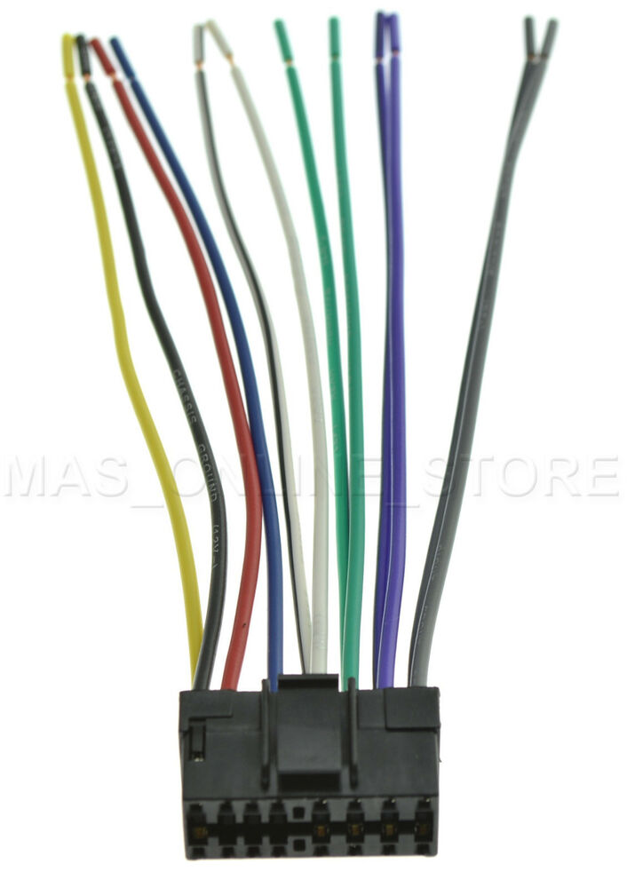 circuit diagram template wire harness for jvc kd-g230 kdg230 *pay today  ships today* ebay