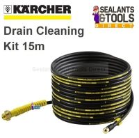 Karcher Drain Pipe Cleaning Pressure Washer Kit 15m Self ...