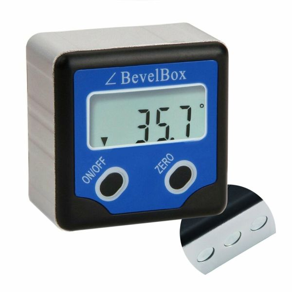 Digital Bevel Box Gauge Angle Protractor Finder Inclinometer With Magnetic Base