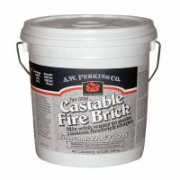 AW Perkins 240 Castable Fire Brick Refractory Cement 12.5