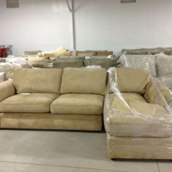 Tufted Sofa Set Natuzzi Editions 88 Dark Brown Leather Reclining Pottery Barn Pearce Couch Sectional Wheat Suede ...