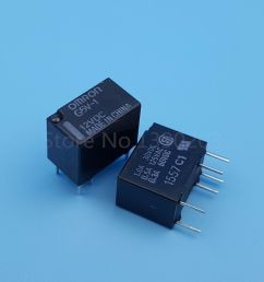 details about 2pcs g5v 1 dc 12v 6pin spdt omron mini signal relay for pcb [ 1000 x 1000 Pixel ]
