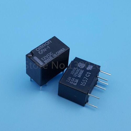 small resolution of details about 2pcs g5v 1 dc 12v 6pin spdt omron mini signal relay for pcb