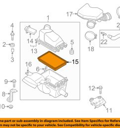 details about mazda oem 07 14 cx 9 engine air filter element cy0113z40a [ 1000 x 798 Pixel ]