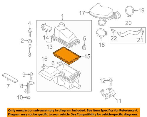 small resolution of details about mazda oem 07 14 cx 9 engine air filter element cy0113z40a