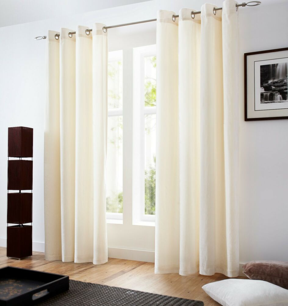 Velvet Lined Curtains Eyelet Top5 colours Cushions