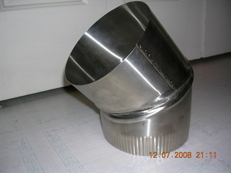 7 inch stove pipe Stainless Steel 30 Degree Single Wall
