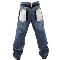 NWT AUTHENTIC MEN'S CROWN HOLDER pale marble COLOR JEANS ...