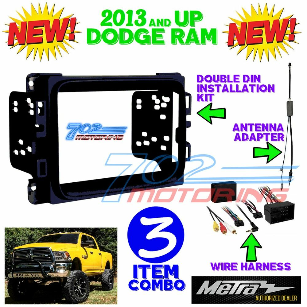 hight resolution of details about metra 95 6518b double din stereo install dash kit dodge ram 2013 2017 interfac